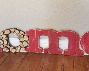 wood letters, home