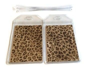 Luggage Tags Set of 2 Cheetah
