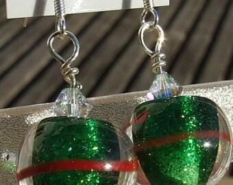 Glitterballs - lampwork glass earrings