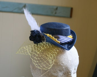 Victorian Inspired Style Sinamay Fascinator Hat Base -  Choose Color