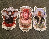 STICKERS! David Bowie All THREE Designs Stickers 3 per order