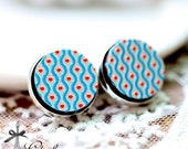 20% off -NEW Unique 3D Embossed 16mm Round Handmade Wood Cut Cabochon to make Rings, Earrings, Bobby pin,Necklaces, Bracelets-(WG-279)