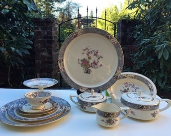 Vintage Lenox Ming Bone China Dinner 46 pieces Set