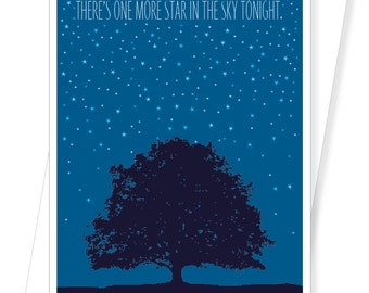 Starry Night Sky - With Sympathy Condolence Thinking of You Cards - D201