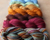 """Girl in the Fireplace Deconstructed Mini Skein Set, Polwarth/Silk DK in """"Girl in the Fireplace"""""""