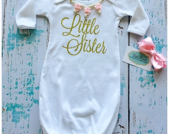 "White and Gold ""Little Sister"" Gown"