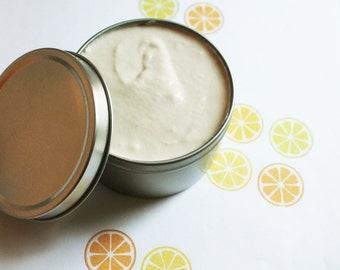 Citrus Whipped Body Butter - Scented Vegan Whipped Shea Butter - Natural Body Butter - Whipped Lotion - Tin Jars