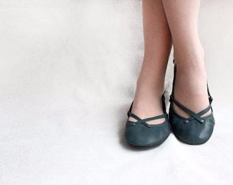 Chloe- Handmade Leather ballet flat shoes - CUSTOM FIT