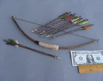 Primitive Bow and Arrow Set