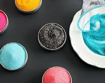 Cocktail rimming sugar kit - 16 artisan colored sugars for martinis, champagne drinks - gift set, gourmet food gift holiday hostess gift