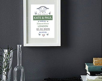 Personalised Print - Stylish Wedding & Anniversary Gift