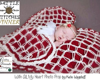 Crochet Pattern, With All My Heart Photo Prop