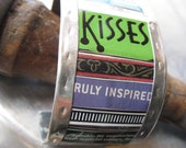 Kisses Mixed Tin Cuff-Tin Can Jewelry-10th Anniversary
