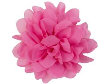 Allison Medium Pink Chiffon Flower