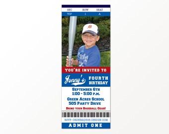 Baseball Ticket Invitation - Printable Baseball Party Invitation