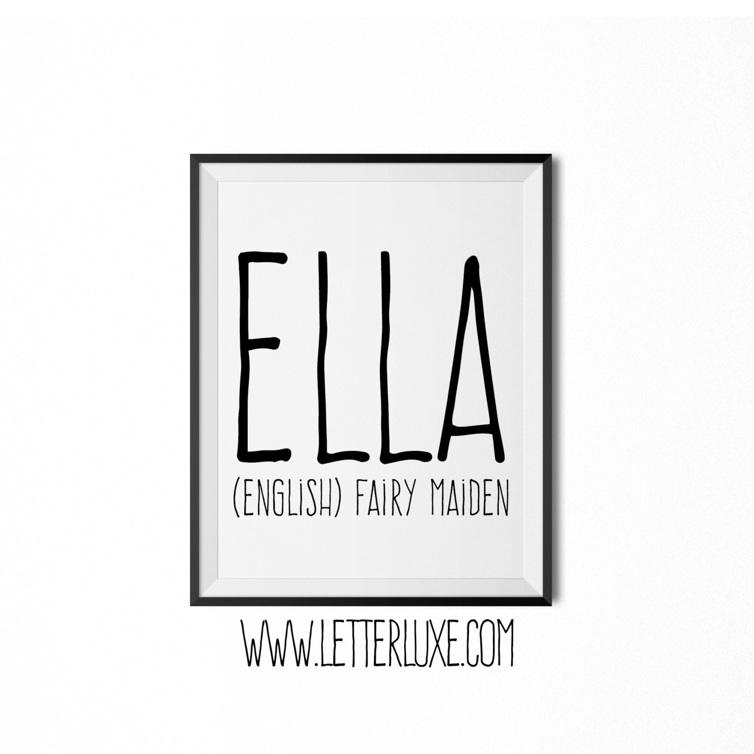 Ella Fairy Maiden Baby Name Meaning Print Printable By