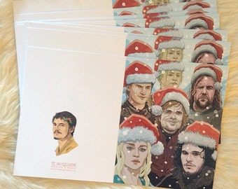 Game of Thrones Christmas Card 10 PACK