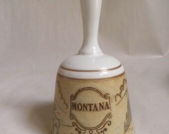 collectible Ceramic Bell, MONTANA souvenir