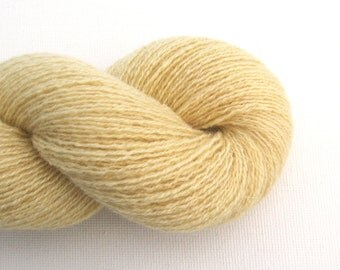 Lace Weight Recycled Cashmere Yarn, Yellow Cake, 490 Yards, Lot 050515