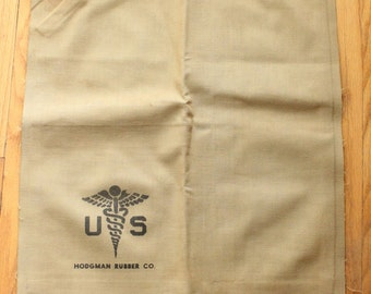 Vintage 40's WWII US Medical Corp Air Pillow made by Hodgman Rubber Co.