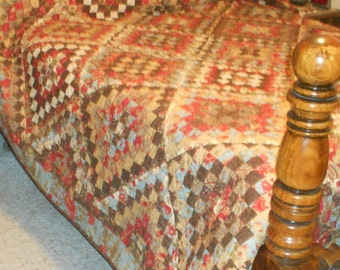 Queen or King Sized Quilt -  Many Trips of Double Chocolat