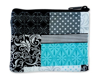Quilted Print Coin Bag