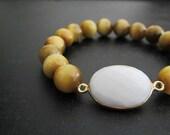 Tiger Eye Bracelet | White Onyx Bracelet | Stack Bracelet | Layering Jewelry | Gemstone Bracelet