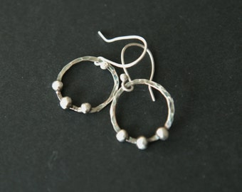 Sterling silver earrings with dots