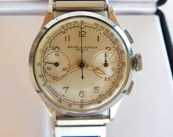Vintage Baume & Mercier Chronograph Watch