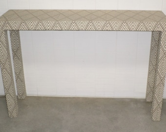 Upholstered Parson's  Console Table - Custom Built - Design Your Own