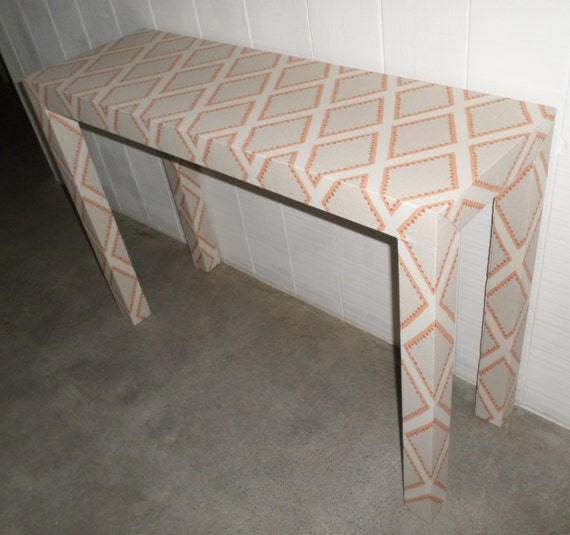 Upholstered Console Table - Custom Built - Design Your Own In ANY Fabric