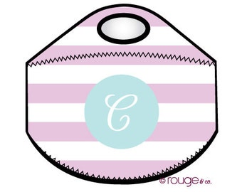 STRIPE monogrammed lunch tote - with customizable pattern and monogram