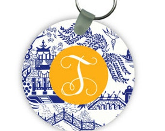 CHINOISERIE keychain with monogram