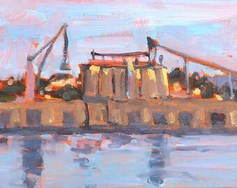 Cargo Terminal, San Diego Painting