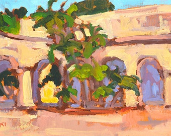 Balboa Park Arches, San Diego Painting