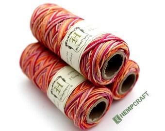 Hemp Twine, Multicolor, Candy Slam Orange 1mm High Quality Hemp Cord