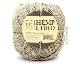 Natural Hemp Cord, Natural Eco Friendly 100lb Hemp Twine, 470ft