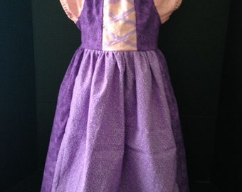 Disney Inspired Princess Rapunzel Boutique Peasant Dress