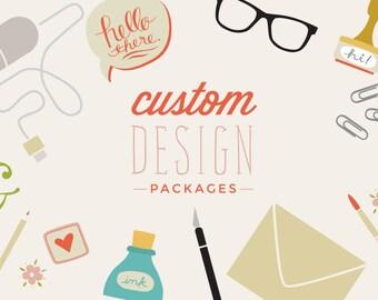 Custom Invitation Design - Wedding Invitations - Showers - Parties - Bespoke design - Design From Scratch