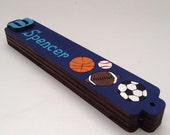 Sport mezuzah- Boys Mezuzah- Sport blue Mezuzah, baseball, football, and soccer mezuzah, kids mezuzah