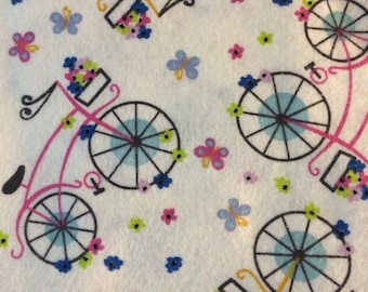 Girly Bikes - FLANNEL - Fat Quarter