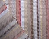 REMNANT SALE...decorator fabric, multi stripe woven cotton ticking 1.22 yards