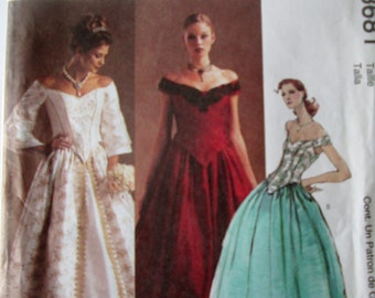 McCalls 3681 Evening Elegance Women's Petite Lined Tops and Skirts Sewing Pattern Bust 38 to 44