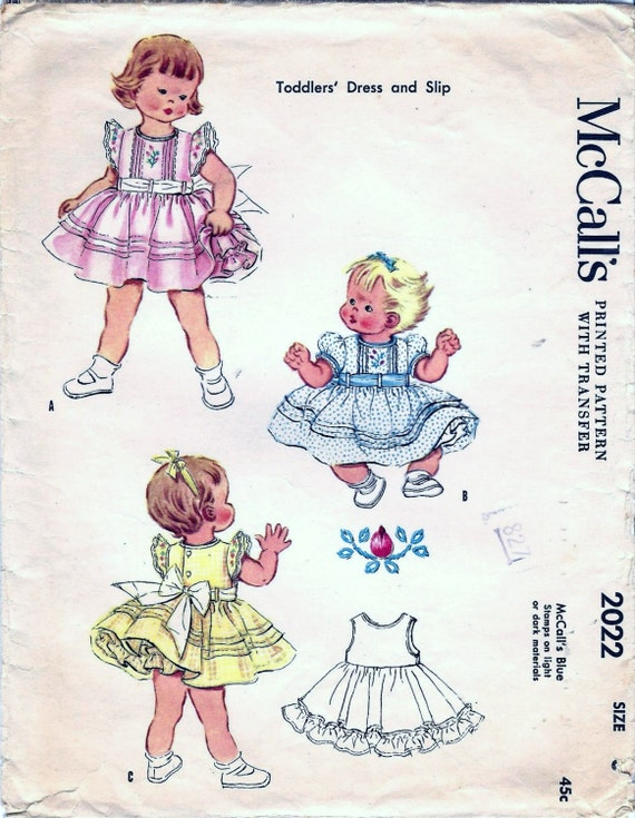 Vintage 50s Girls Dress Pattern Mccall S 2022 Girls Party