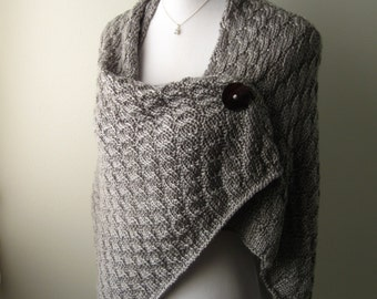 Hand Knit Shawl - PDF Pattern