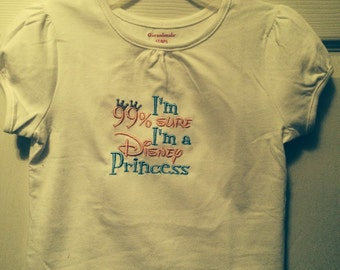 Princess t-shirt , every little girl loves to be a princess. Fun shirt or onesie.