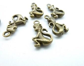 20pcs 11x20mm Antique Bronze  Lovely Monkey Charms Pendant c5347
