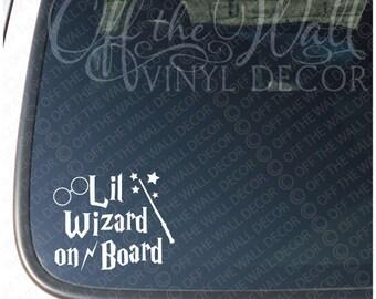 "Harry Potter  ""Lil Wizard on Board"" Vinyl Car/Truck Decal Sticker"
