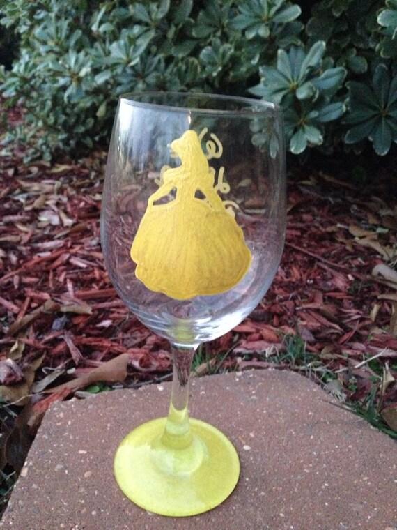 princess wine glass wine like a princess disney princess