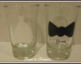 Wedding  shot glass Personalized Wedding Shot Glasses Bride Groom Bridesmaids Groomsmen Personalized Gifts
